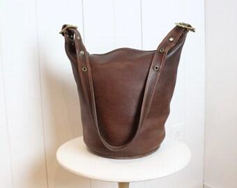 76c2d8fe2 ... switzerland vintage coach duffle bag mahogany brown coach bucket bag  feed sac xl pre 9085 coach