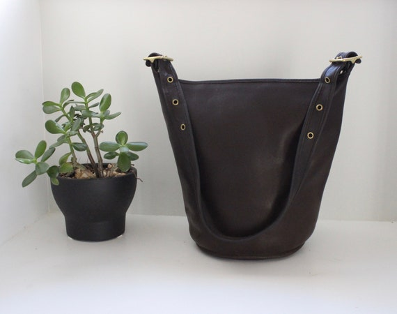 270594da9c Vintage Coach Duffle Bag Brown    Coach Bucket Bag Feed Sac XL