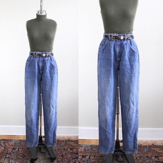 vintage lee skyrider jeans // pleated denim high w
