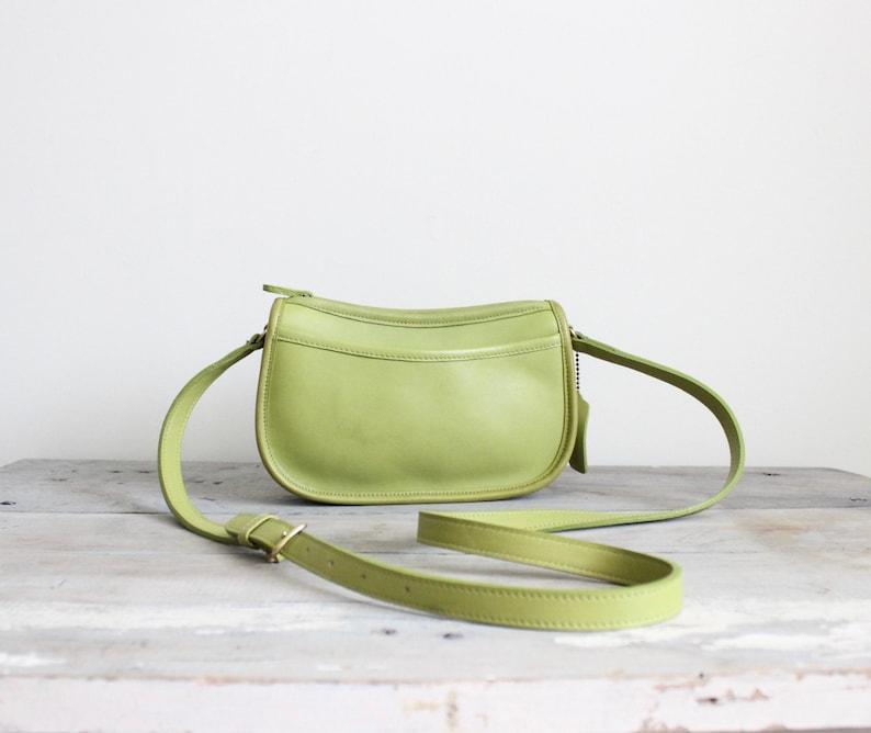 72c0fbbd vintage coach wendie bag // chartreuse green crossbody 9031