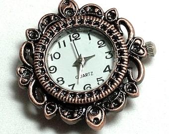 1 Quartz Copper, silver or Gold Tone Watch Face - fancy, ornate  |W-001-C