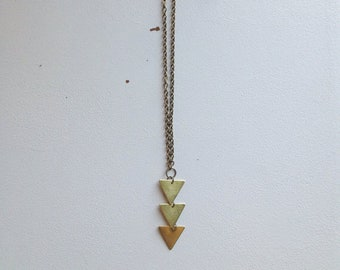 Upside Down Triangle Necklace