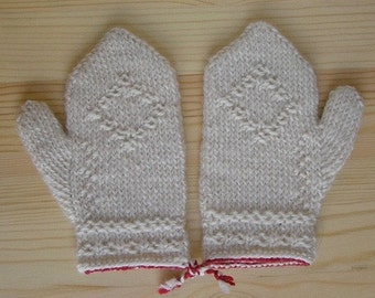 Childs Twined Mittens