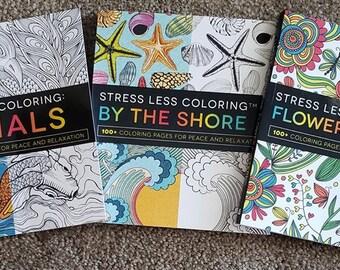 Stress Less Coloring - Animals : Adams Media : 9781440593888 | 270x340