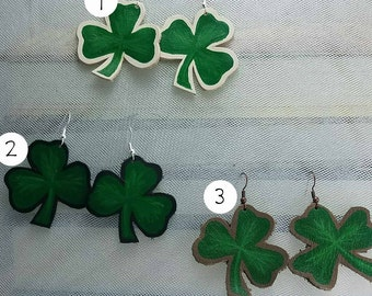 You ShamROCK Leather Painted Earrings