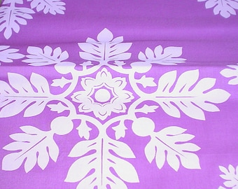 White with Deep Fuschia Background Fabric 1 3/4  yards