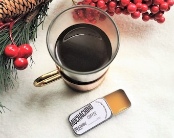 Coffee Lip Balm with Cocoa Butter   Vegan Lip Balm