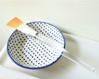 Face Mask Mixing Set   Face Mask Bowl with Face Mask Brush   Facial Mask Mixing Bowl   Self Care Kit