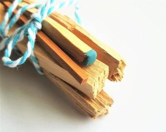 Palo Santo Stick Incense Match Sandalwood | Energy Cleansing Smudge Kit | Housewarming Gift | Meditation