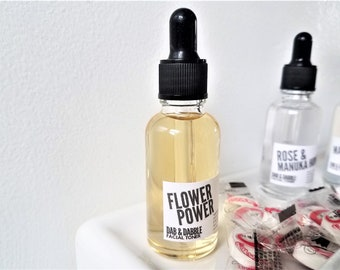 Flower Power Facial Mask Mixing Liquid with Sheet Masks