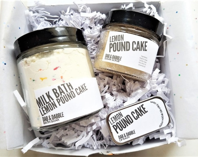 Lemon Cake Milk Bath Gift Set