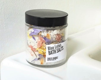 Bath Salts Jar | Bath Fizzie Powder | Blue Lotus Bath Soak