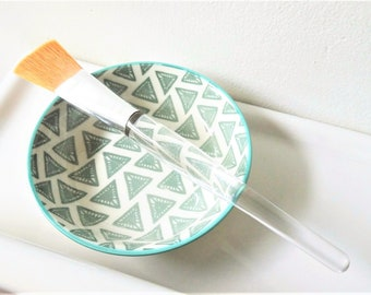 Face Mask Bowl with Face Mask Brush