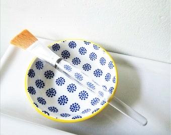 Face Mask Bowl with Face Mask Brush   Facial Mask Mixing Bowl   Self Care Kit   Facial Mask Set