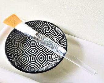 Face Mask Bowl with Face Mask Brush | Facial Mask Mixing Bowl | Self Care Kit | Facial Mask Set