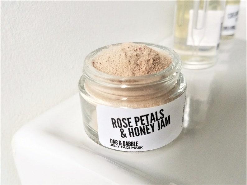 Rose Petals & Honey Jam Jelly Face Mask  Mature Skin Facial image 0