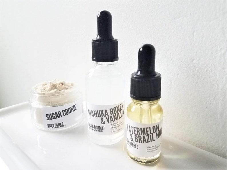 Sensitive Skin Care Set  Facial Mask Facial Toner Face Oil image 0