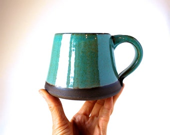 Alpine Mug in Juniper Green, MADE TO ORDER, Handmade Ceramic Pottery Mug, Handmade Wheel-Thrown Pottery