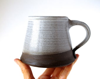 Alpine Mug in White, READY TO SHIP, Handmade Ceramic Pottery Mug, Handmade Wheel-Thrown Pottery