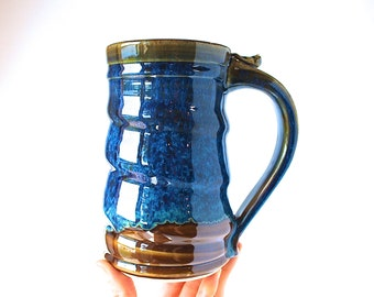 Handmade Beer Stein, READY TO SHIP, Tankard, 18 oz, Handmade Wheel-Thrown Pottery Stein