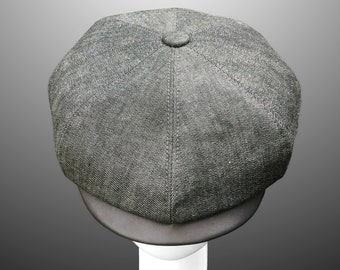 29d29b0801b Denim Leather Canvas Peaky Blinders Bakerboy Paperboy Newsboy Flat Cap Hat  1920 1930 Vintage Gatsby Bespoke Large Any Size XL Custom Made