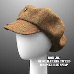 NEW: Rob Zombie Oversized Newsboy Cap Harris Tweed Huge Unisex Paperboy Bakerboy Hat Bowie Gatsby Custom Made Bespoke Any Size XL Large