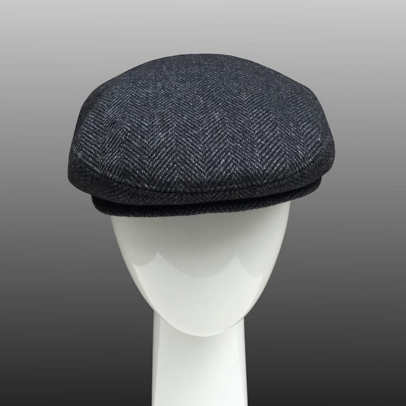 b1b77ece6 Ivy Peaky Driver Derby Flat Cap Hat Grey Herringbone Men Large Bespoke  Ready to Ship Sample Sale CUSTOM MADE Any size or Any Fabric
