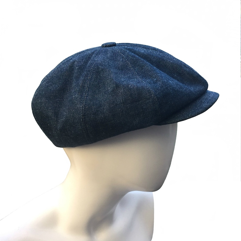 aefc2125f Denim Peaky Blinders Bakerboy Paperboy Newsboy Flat Cap Hat Retro Vintage  Gatsby Linen Moleskin Bespoke Large Any Size XL Custom Made