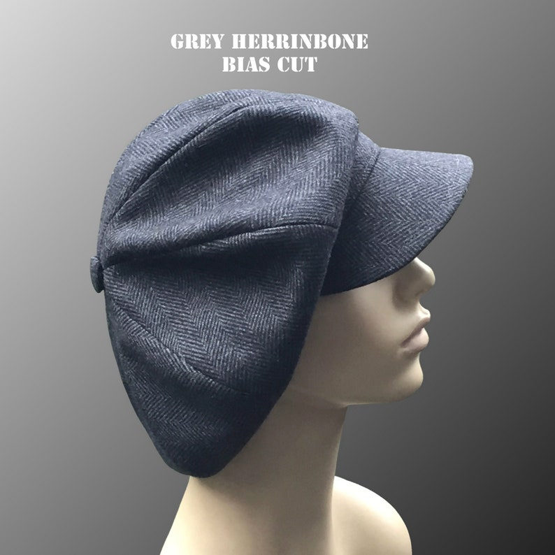 8d44e7951 NEW Katiа Oversized Romantic Newsboy Slouchy Unisex Paperboy Flat Cap Hat  1930 1970 1980 Bowie Gatsby Custom Made Bespoke XL Large Fabric