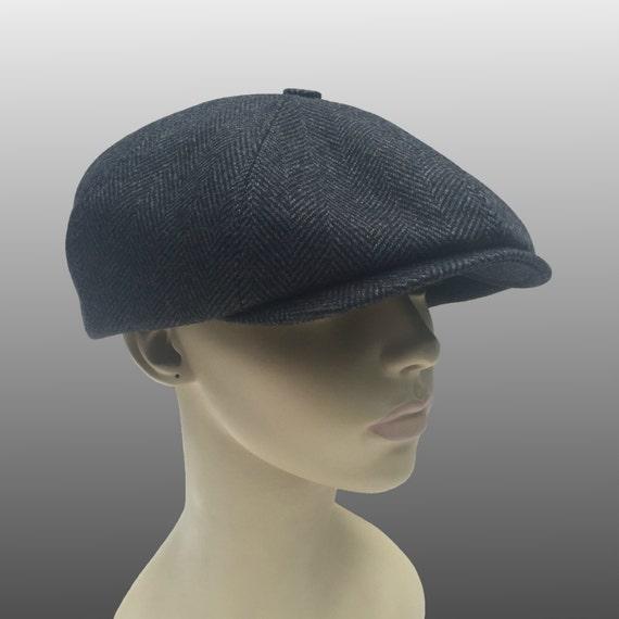 b49e1989 Harris Tweed Shelby Peaky Blinders Hat Bakerboy Paperboy | Etsy