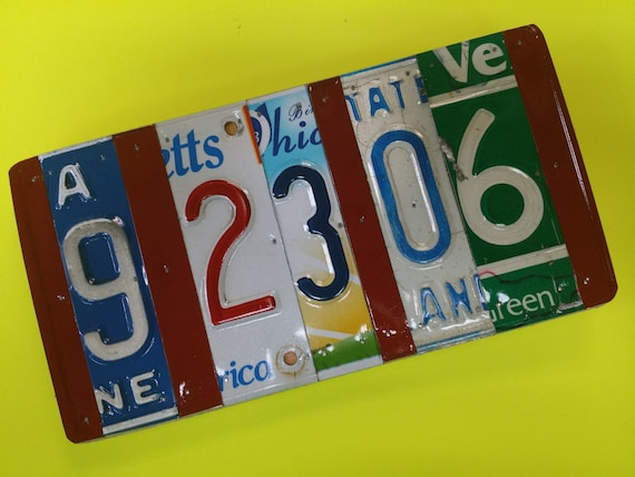 10 Year Traditional Anniversary Gifts 10 Year Anniversary Gift Of Aluminum Tin License Plate Sign Custom Made You Choose The States