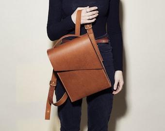 Brown Leather Backpack - Pioneer