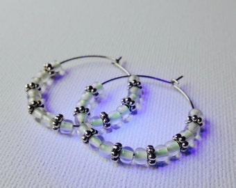 Glow in the Dark Earrings, Hoop Earrings, Hoop Glow Earrings