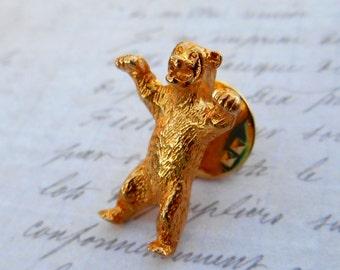 Bear Pin, Bear Brooch, Vintage Brooch