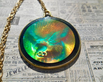 Hologram necklace etsy eagle hologram necklace hologram necklace eagle hologram eagle necklace unique jewelry aloadofball Choice Image