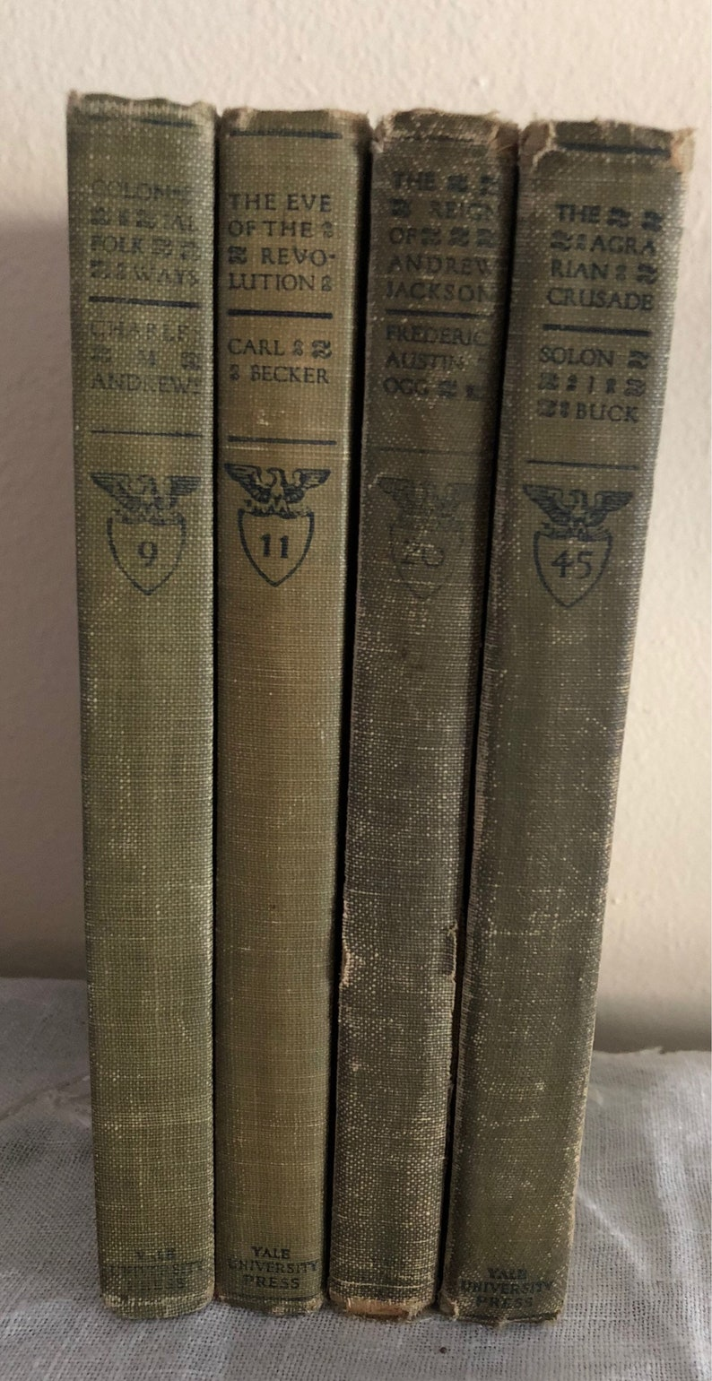 Set of 4 Chronicles of America History Books by Yale image 0