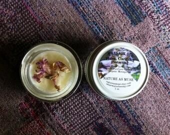Organic Massage Oil- Clary Sage