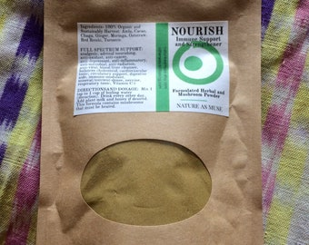 NOURISH Organic Herbal Immunity Powder 2 Month Supply