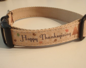 Happy Thanksgiving Dog Collar