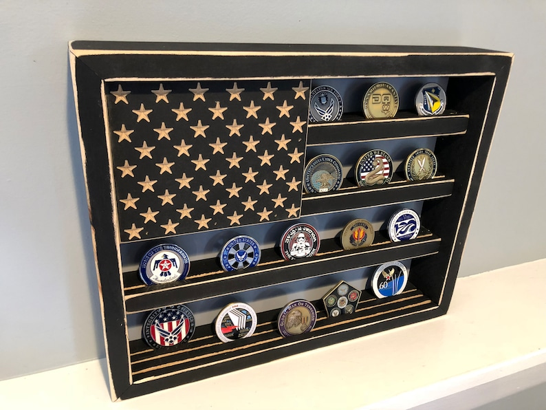 12 x 15 40 Coins American Flag Challenge Coin image 0