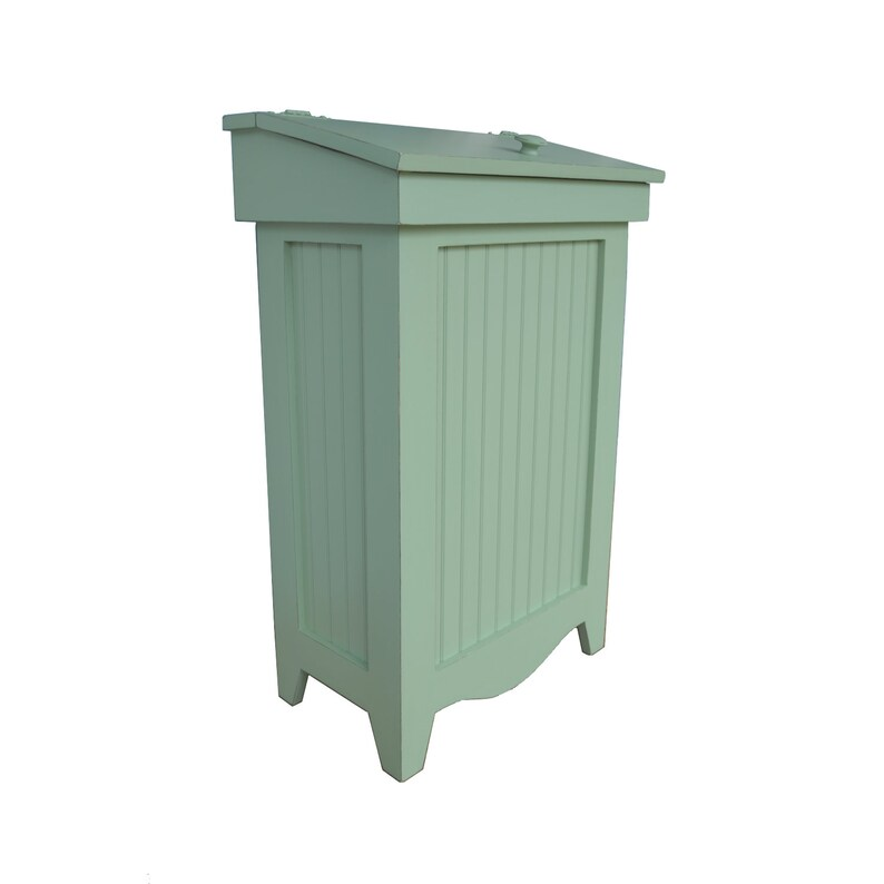 Large Farmhouse Wood Trash Bin Can / Recycling Bin / 30-Gallon Wood Kitchen  Trash Can / Wood Trash Bin
