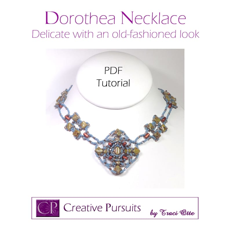 Dorothea necklace PDF Tutorial delicate necklace using image 0