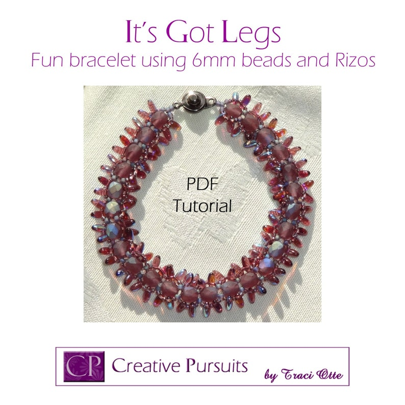 It's Got Legs bracelet PDF Tutorial RAW technique using image 0