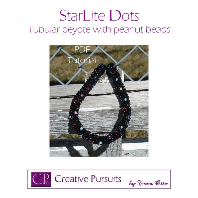 StarLite Dots bracelet or necklace PDF Tutorial tubular image 0