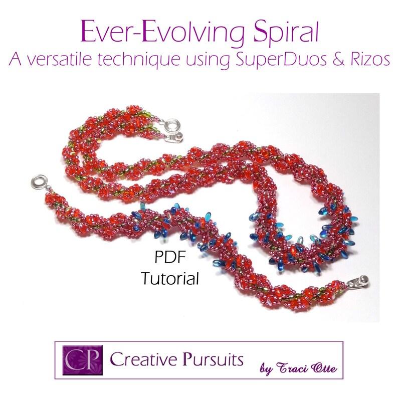 Ever-Evolving Spiral bracelet and necklace PDF Tutorial image 0