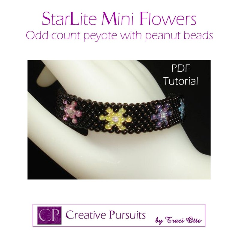 StarLite Mini Flowers bracelet and earrings PDF tutorial odd image 0