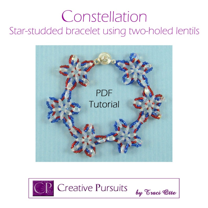 Constellation bracelet PDF Tutorial modified daisy chain image 0