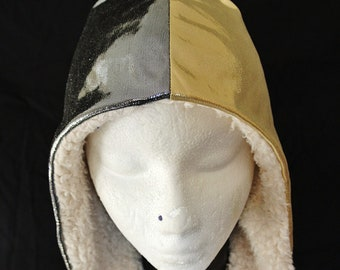 gold and silver festival hood metalic