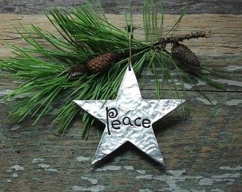 Star ornament - Peace