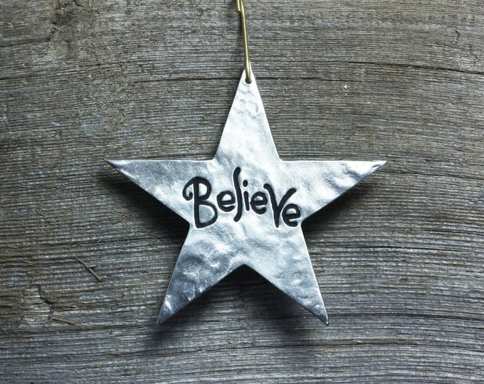 Featured listing image: Star ornament - Believe